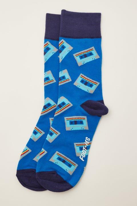Footies Mix Tape Sock Blue