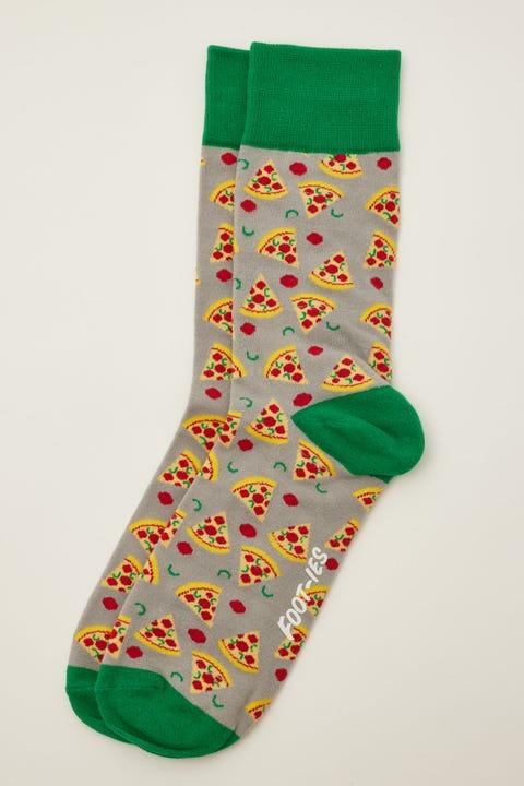 Footies Pizza Slice Sock Grey