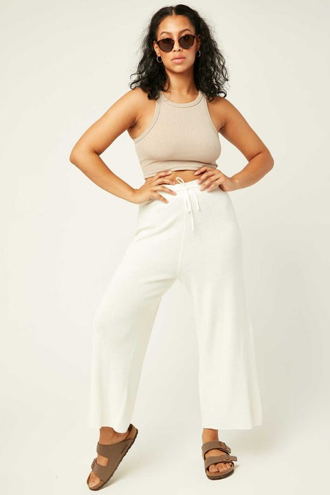 Perfect Stranger Self Care Knit Pant White