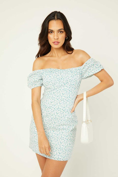 PERFECT STRANGER Field Of Floral Dress White Floral