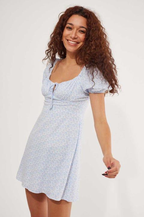 Luck & Trouble Farrah Dress White Floral