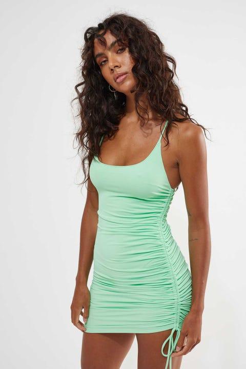 Luck & Trouble Lavish Mini Dress Sea Mist