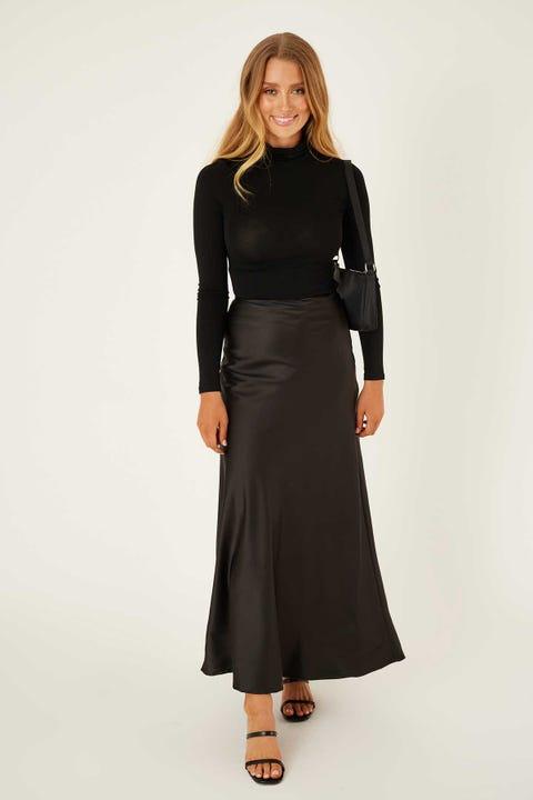 Luck & Trouble Tour Maxi Skirt Black
