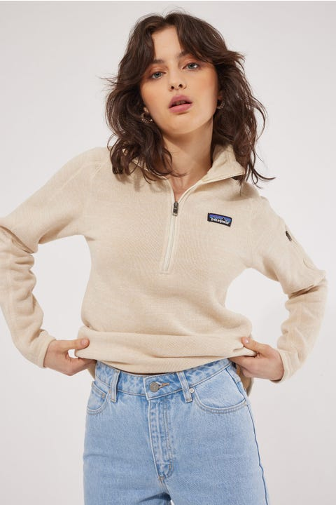 Patagonia Better Sweater 1/4 Zip Oyster White