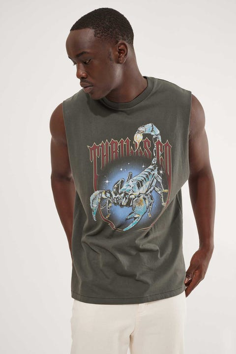 Thrills Midnight Scorpion Merch Fit Muscle Tee Merch Black