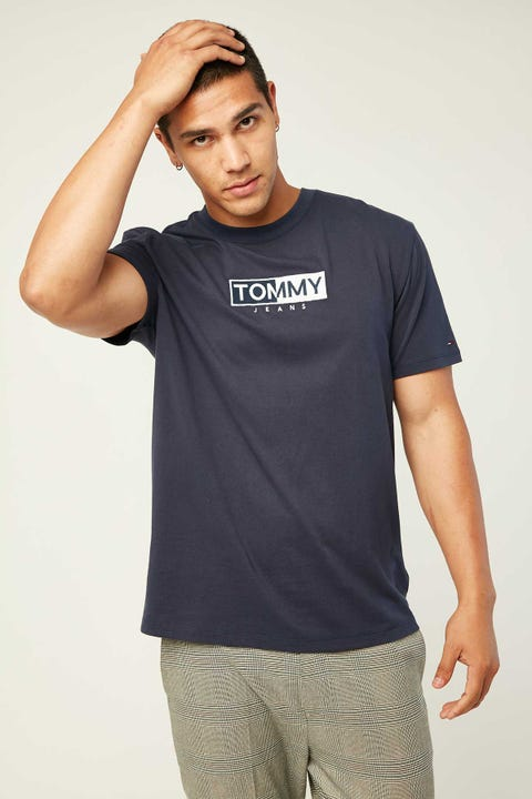 TOMMY JEANS TJM Embroidered Logo Tee Black Iris