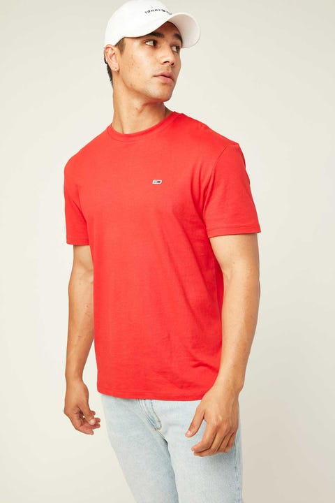 TOMMY JEANS TJM Tommy Classic Tee Racing Red