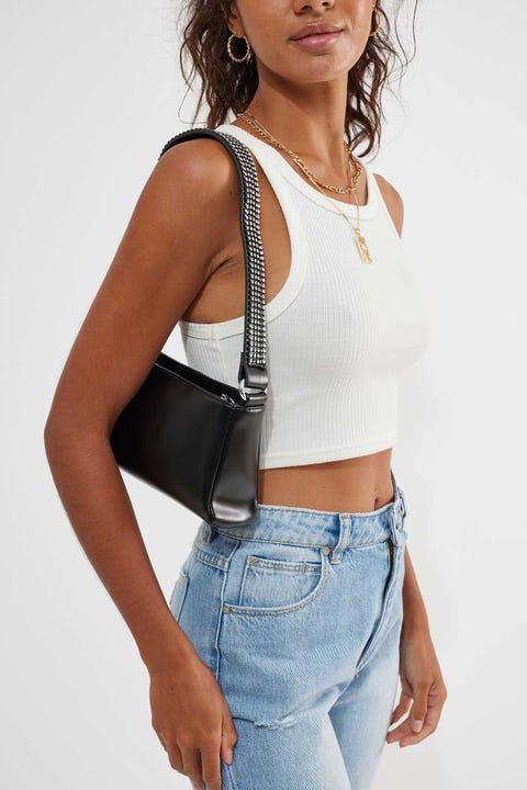 Token Diamante Strap Bag Black