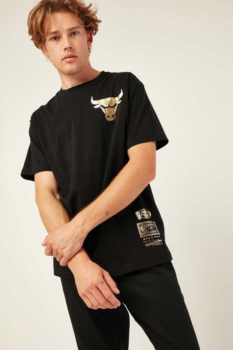 Mitchell & Ness Bulls Foil Logo Tee Black