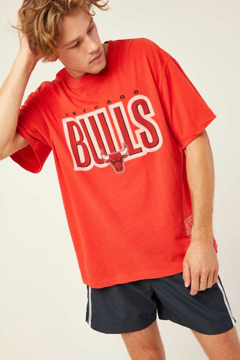 Mitchell & Ness Retro Blur Tee Faded Red