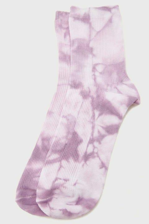 Token Tie Dye Sock Purple