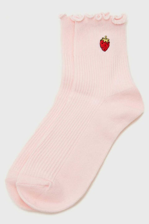 Token Strawberry Dion Sock Pink