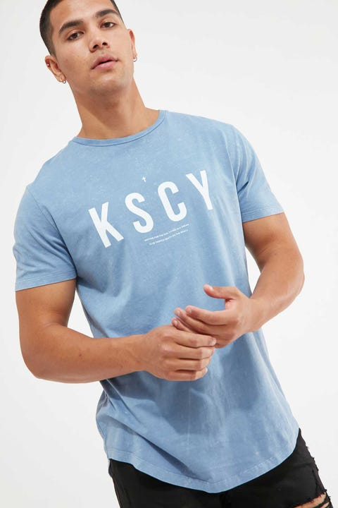 KISS CHACEY Chase The Sun Dual Curved Tee Acid Sky Blue