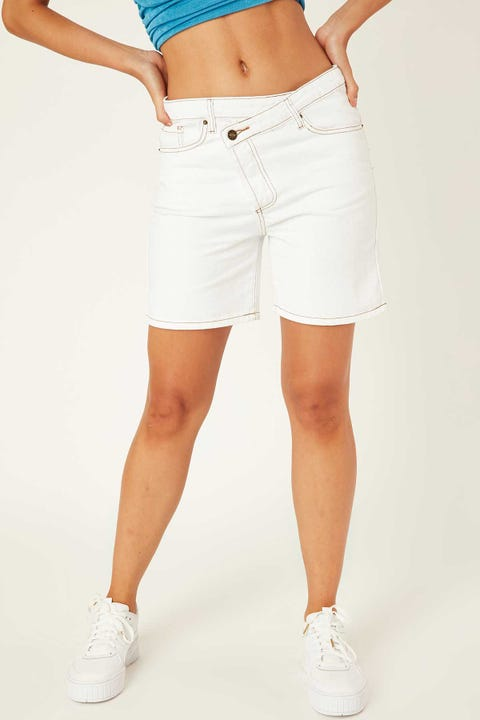 Lioness Lowrider Denim Short White