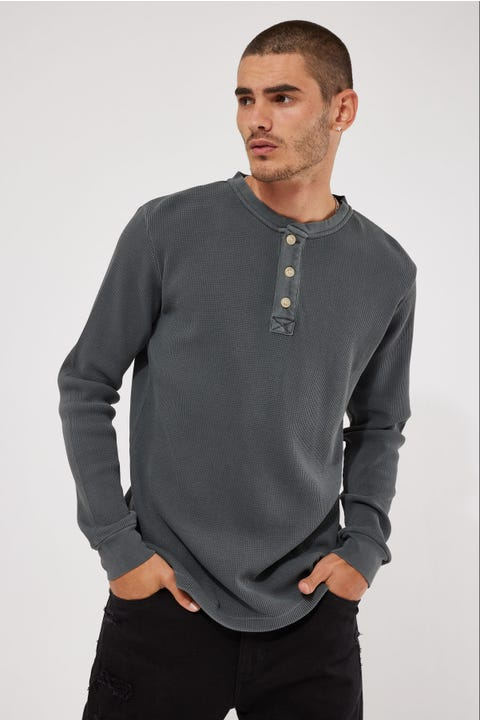 Academy Brand Sycamore Henley LS Tee Iron