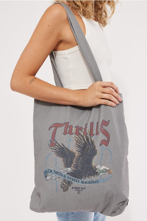 Thrills Storm The Castle Tote Washed Grey