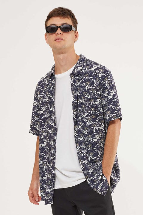 Common Need Daze Party Shirt Navy/White
