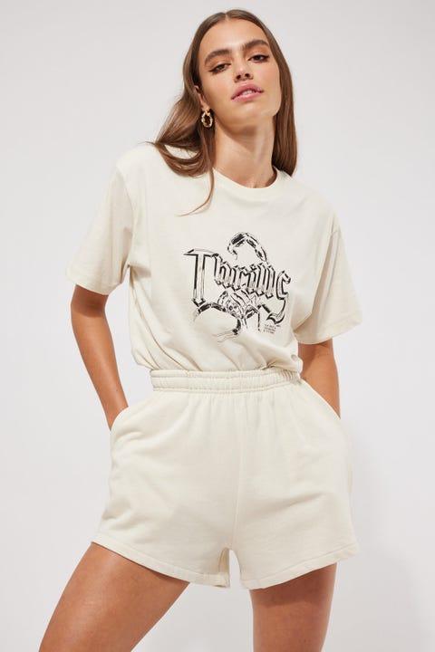 Thrills Established Fleece Short Heritage White