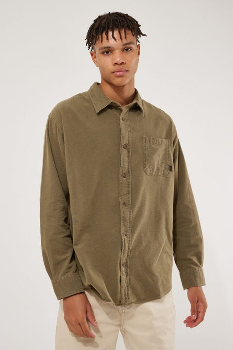 Thrills OPS Oversized Long Sleeve Shirt Military