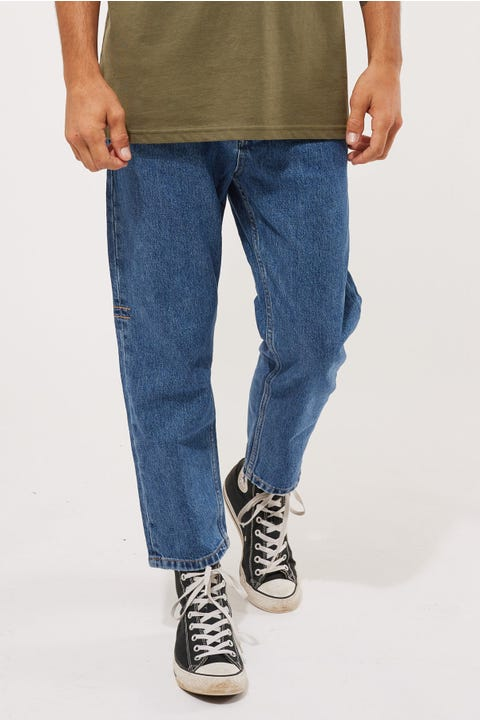Thrills Chopped Denim Jean Rinsed Blues