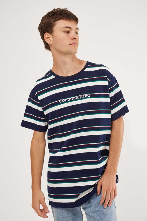 Common Need Bavaria Stripe Tee Navy/White/Teal