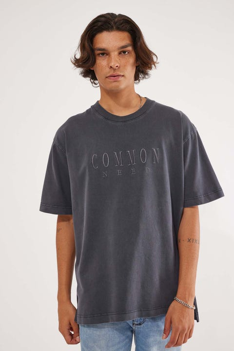 Common Need Sense Tee Vintage Black