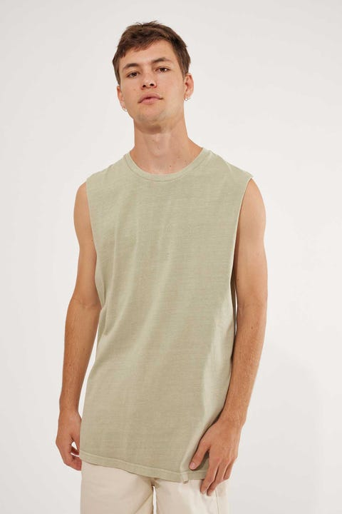 Common Need Masonry Muscle Tank Sage
