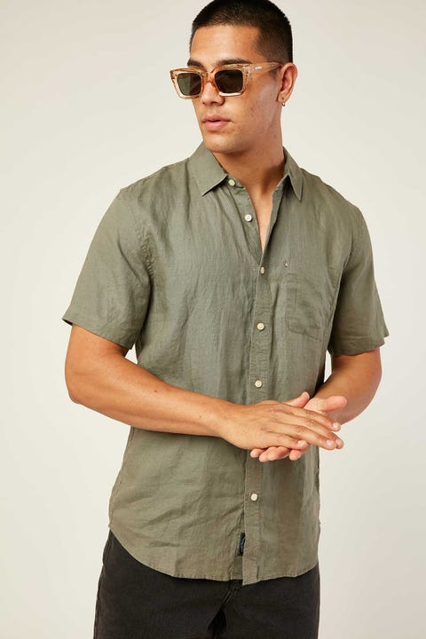 THE ACADEMY BRAND Hampton SS Shirt Olive
