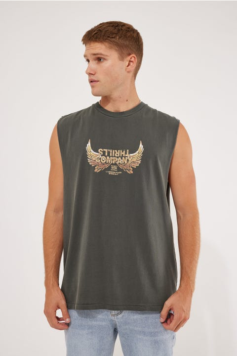 Thrills Sacred Merch Fit Muscle Tee Merch Black