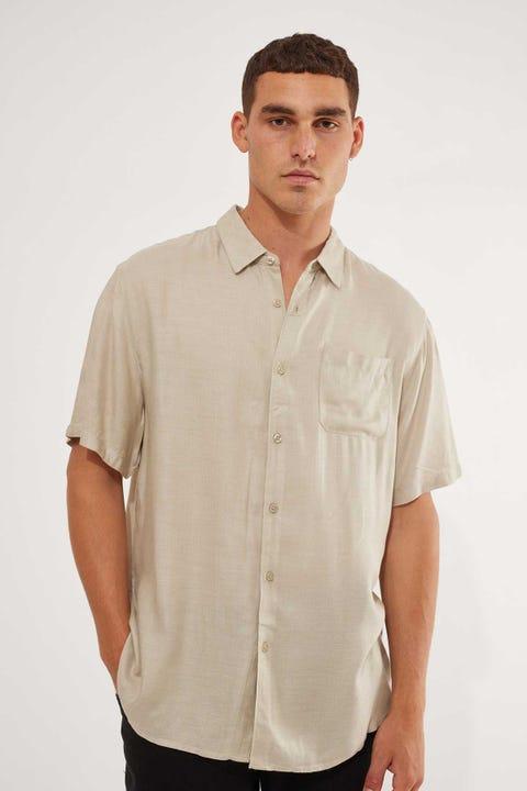 Common Need Herringbone Party Shirt Green
