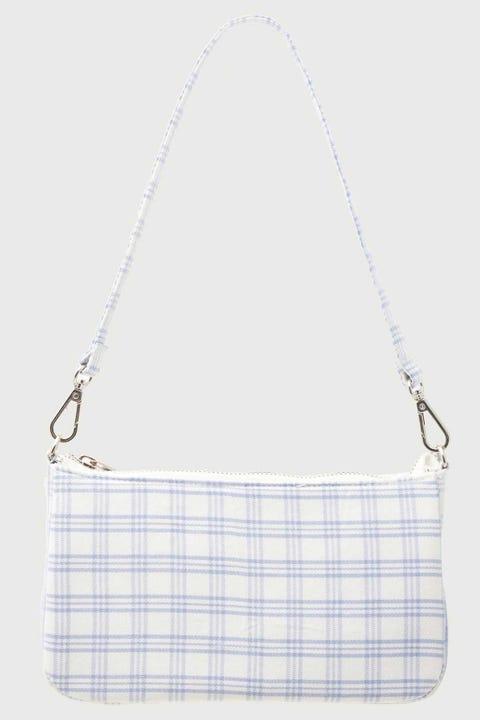Token 90's Shoulder Handbag White Check