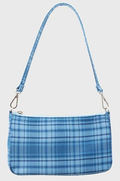 Token 90's Shoulder Handbag Blue Check