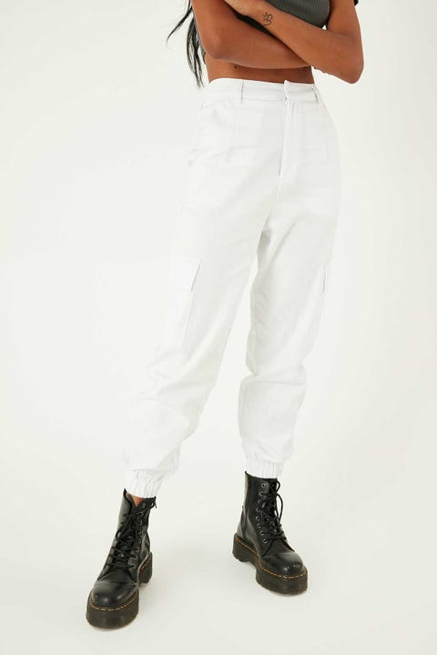 LUCK & TROUBLE Cargo Pant White