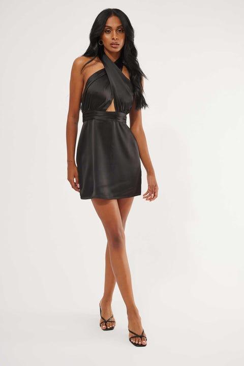 Perfect Stranger Midnight Halter Dress Black