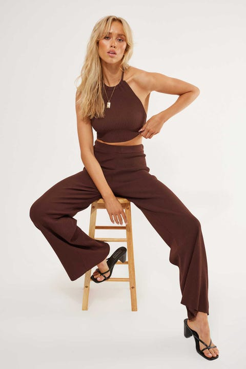 Perfect Stranger Dreamlover Knit Pant Chocolate