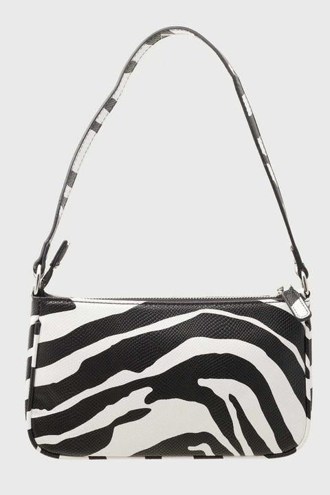 Token Zebra Shoulder Bag Black & White