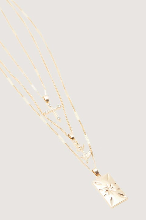Token Enchant 3-Pack Necklace Gold