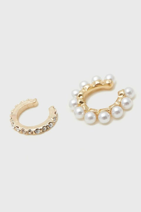 Token Diamante & Pearl Cuff Pack Gold