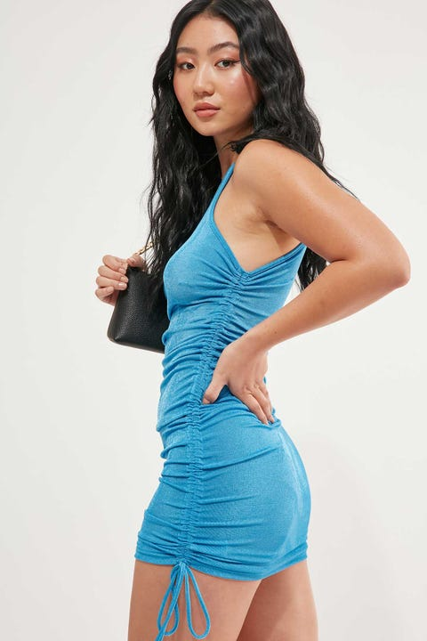 Lioness East Village Mini Dress Blue