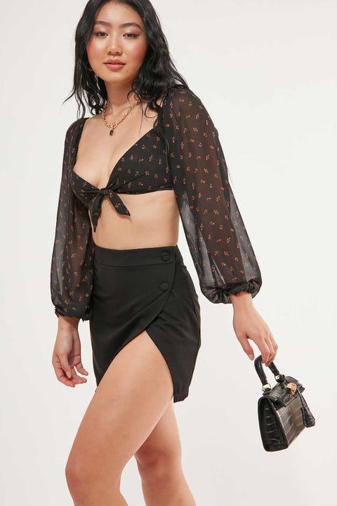 Luck & Trouble Foolish Mini Skirt Black