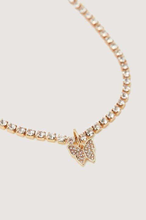 Token Diamante Butterfly Choker Gold
