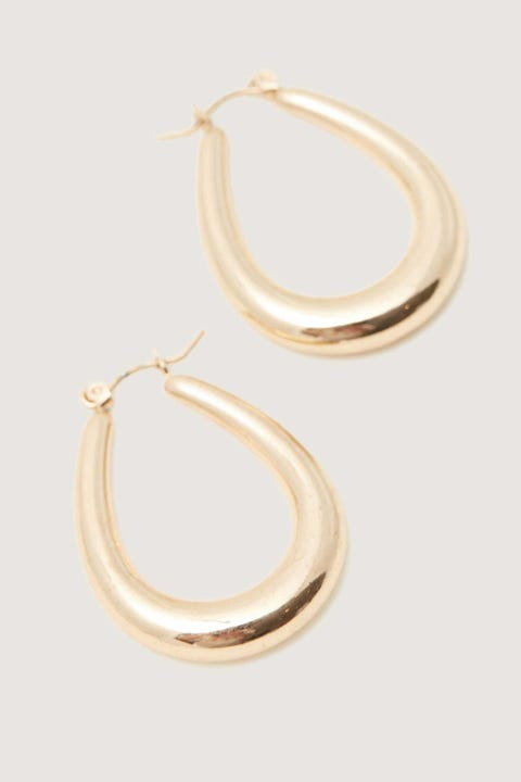 Token Oval Hoop Earring Gold