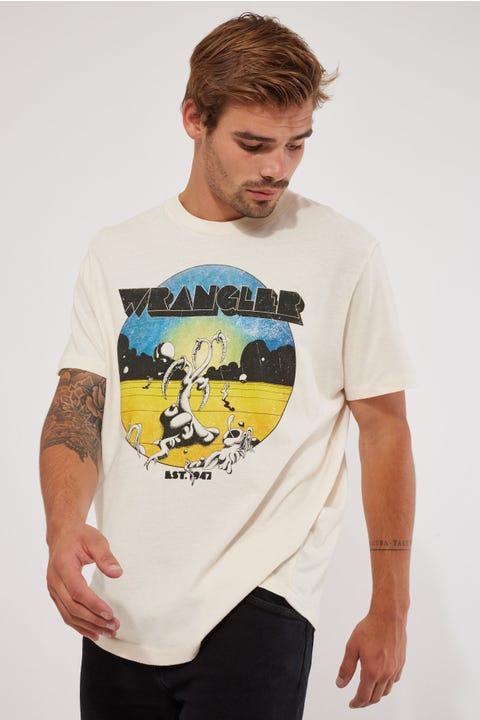 Wrangler Only Place SS Tee Ecru
