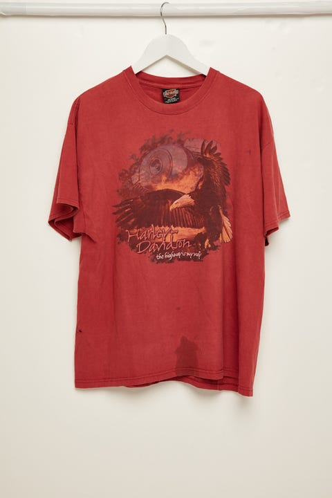 The People Vs Harley Collector Tee Vintage Red