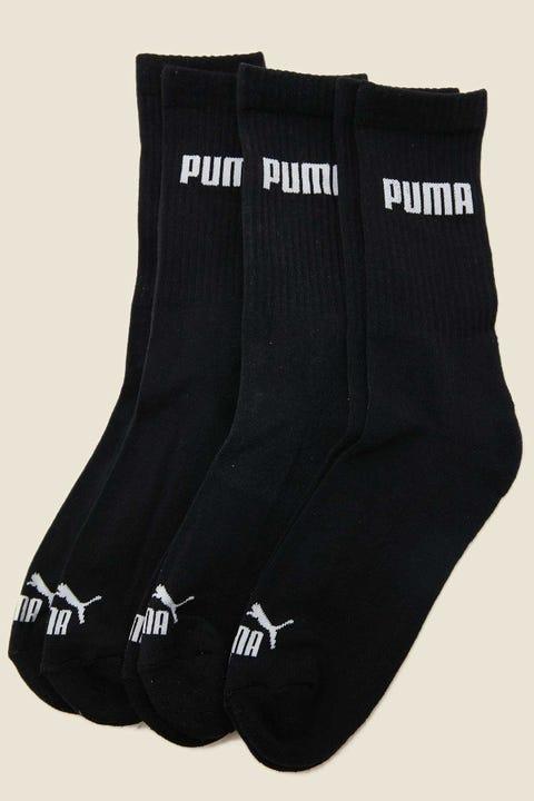 Puma Cushioned Crew Sock 3 Pack Black