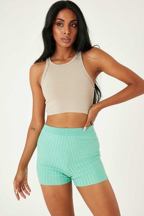 Perfect Stranger Havana Knit Short Green
