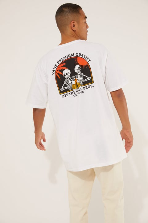 Vans Off The Wall Bros SS Tee White