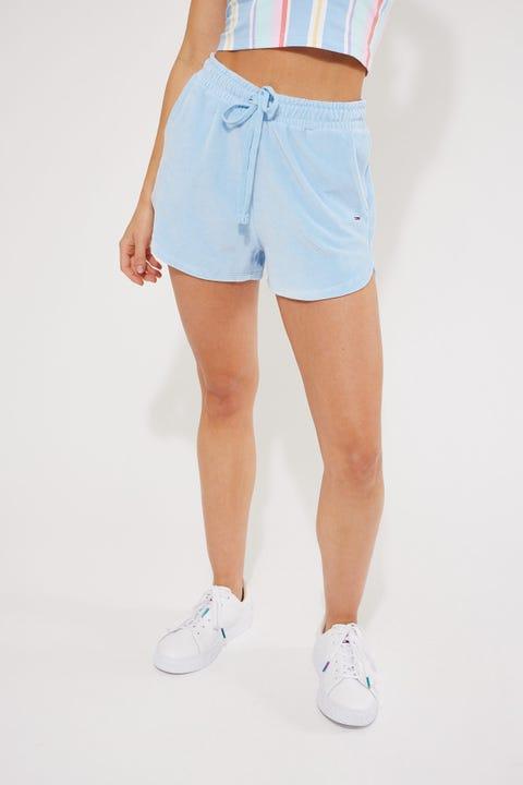 Tommy Jeans Pastel Velour Short Light Powdery Blue