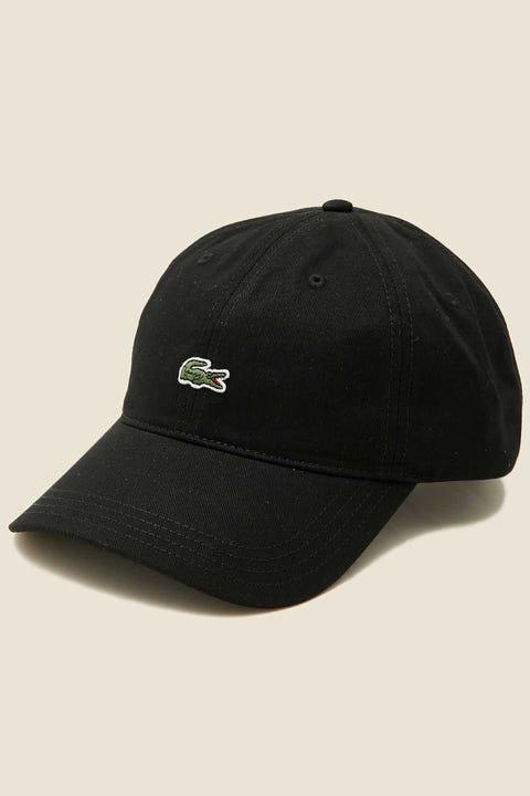 LACOSTE Centre Croc Cap Black/Tan