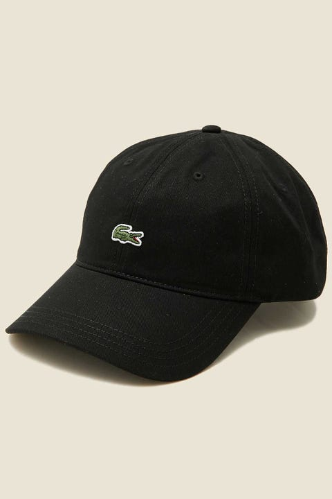 LACOSTE Centre Croc Cap Black/Tan